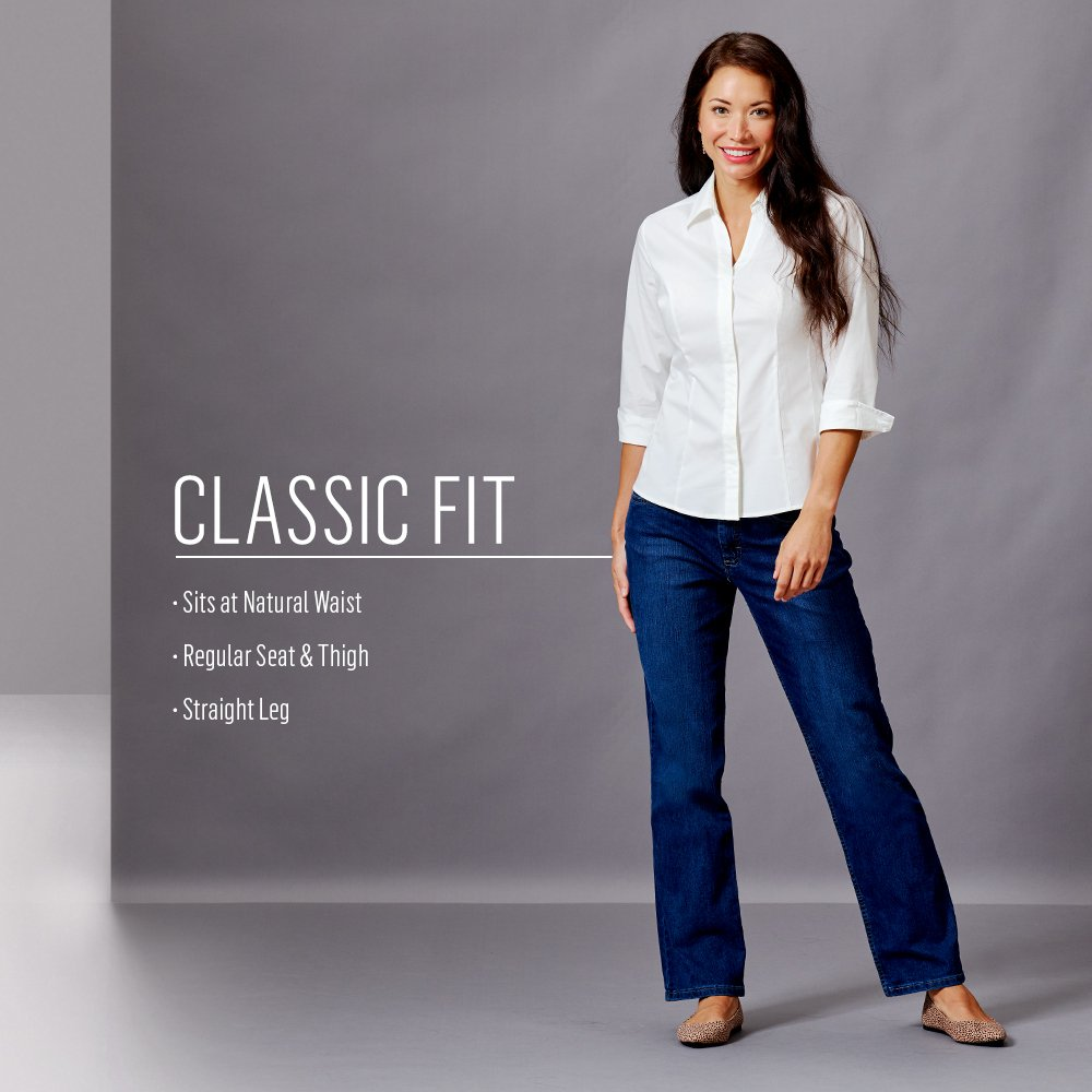 Riders by Lee Indigo Women's Classic-Fit Straight-Leg Jean, Light, 14 by Riders by Lee Indigo (Image #4)