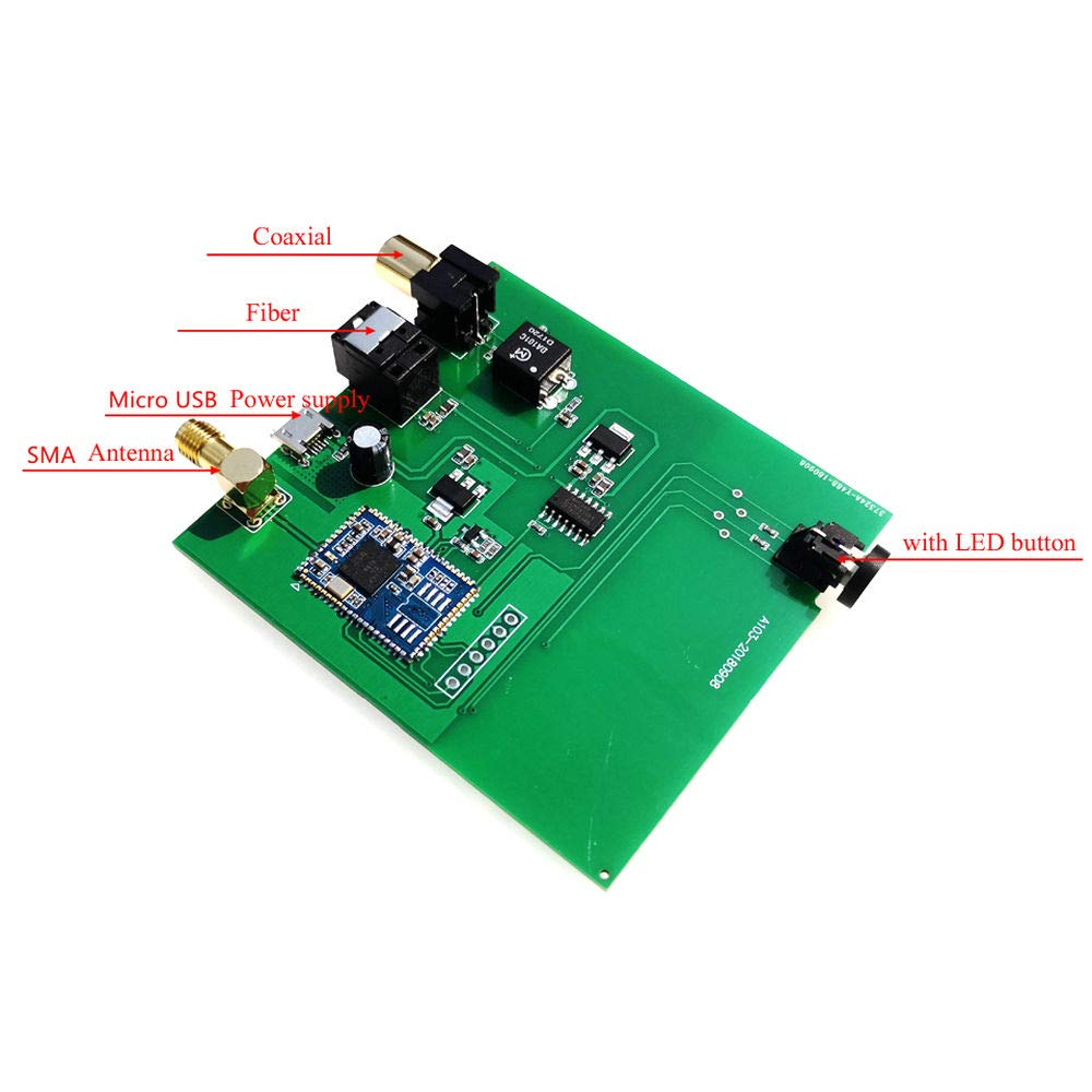 CSR8675 Bluetooth 5.0 Digital Audio Receiver Hi-Fi 24BIT ATPX-HD Optical Coaxial
