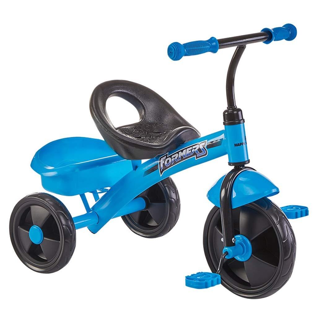 子供の三輪車の赤ちゃんキャリッジ13歳の赤ちゃんの自転車子供のおもちゃの車 (色 : 青)  青 B07GKHQSM2