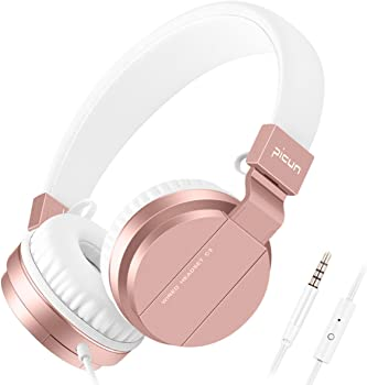 Picun Over-Ear Wired Foldable Stereo Headphones with Mic