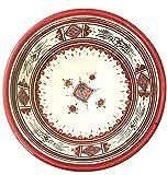 Medium Handpainted Moroccan Ceramic Bowl in Red