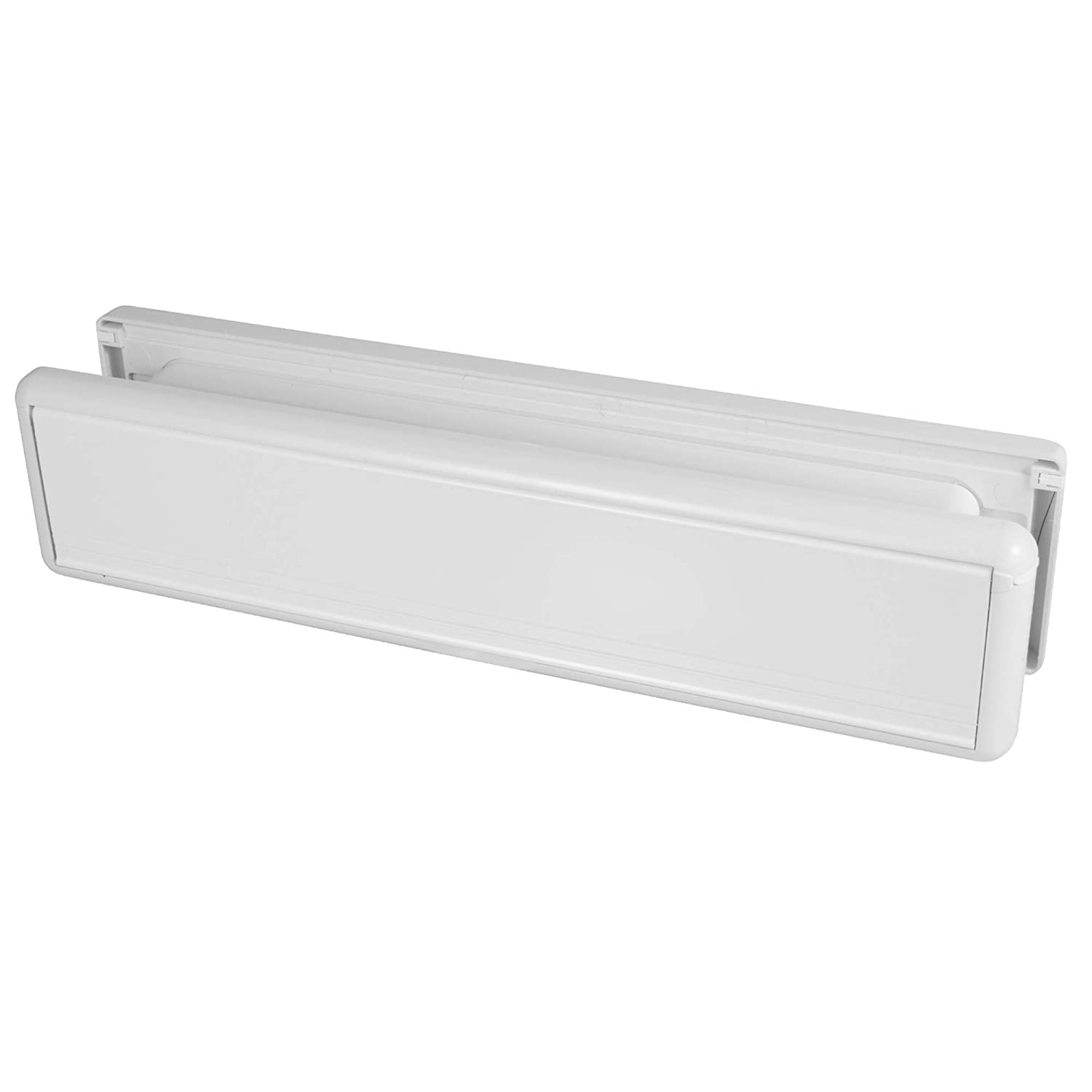 WELSEAL P5984-702A-BS 12 Inch UPVC Door Letterbox/Letter Plate Panel - White