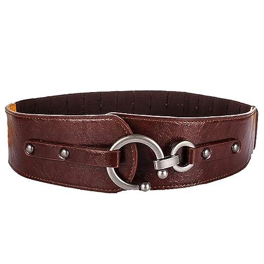 FeliciaWen Cinturon de Mujer Vestido elástico Grueso Cinturones de ...