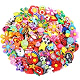 PP OPOUNT 120 Pieces Different PVC Shoe Charms for Croc& Jibbitz Bands Bracelet Wristband