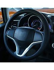 Mode souple en silicone antidérapant Housse de volant de voiture Décoration de voiture Housse de volant