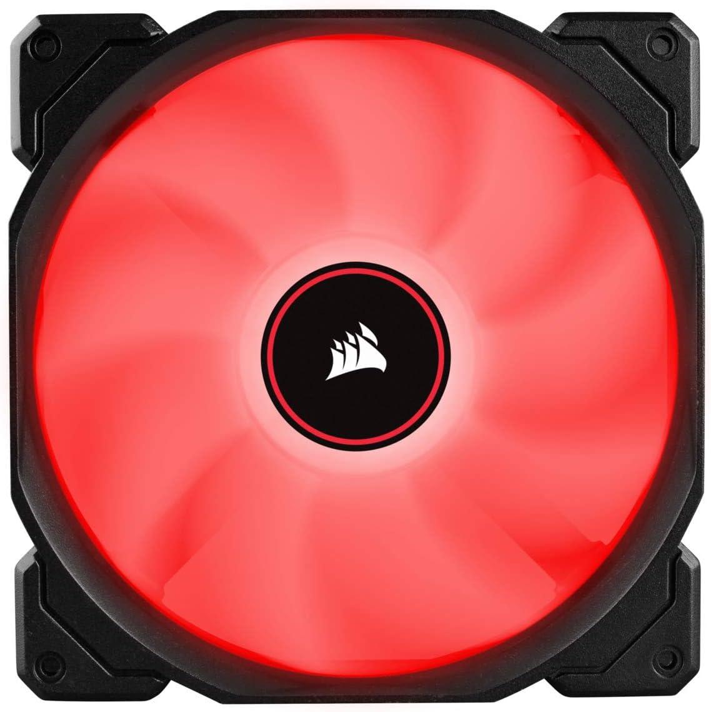 Venti. Caja CORSAIR AF140 LED Rojo Low Noise Dual Pack CO-9050089-WW CORSAIR CO-9050089-WW, Carcasa del Ordenador, Ventilador, 14 CM, 1150 RPM, 26 DB, 62 CFM