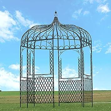 Provins Deco Gloriette Kiosque en en Fer de Jardin Marron ø200 cm ...