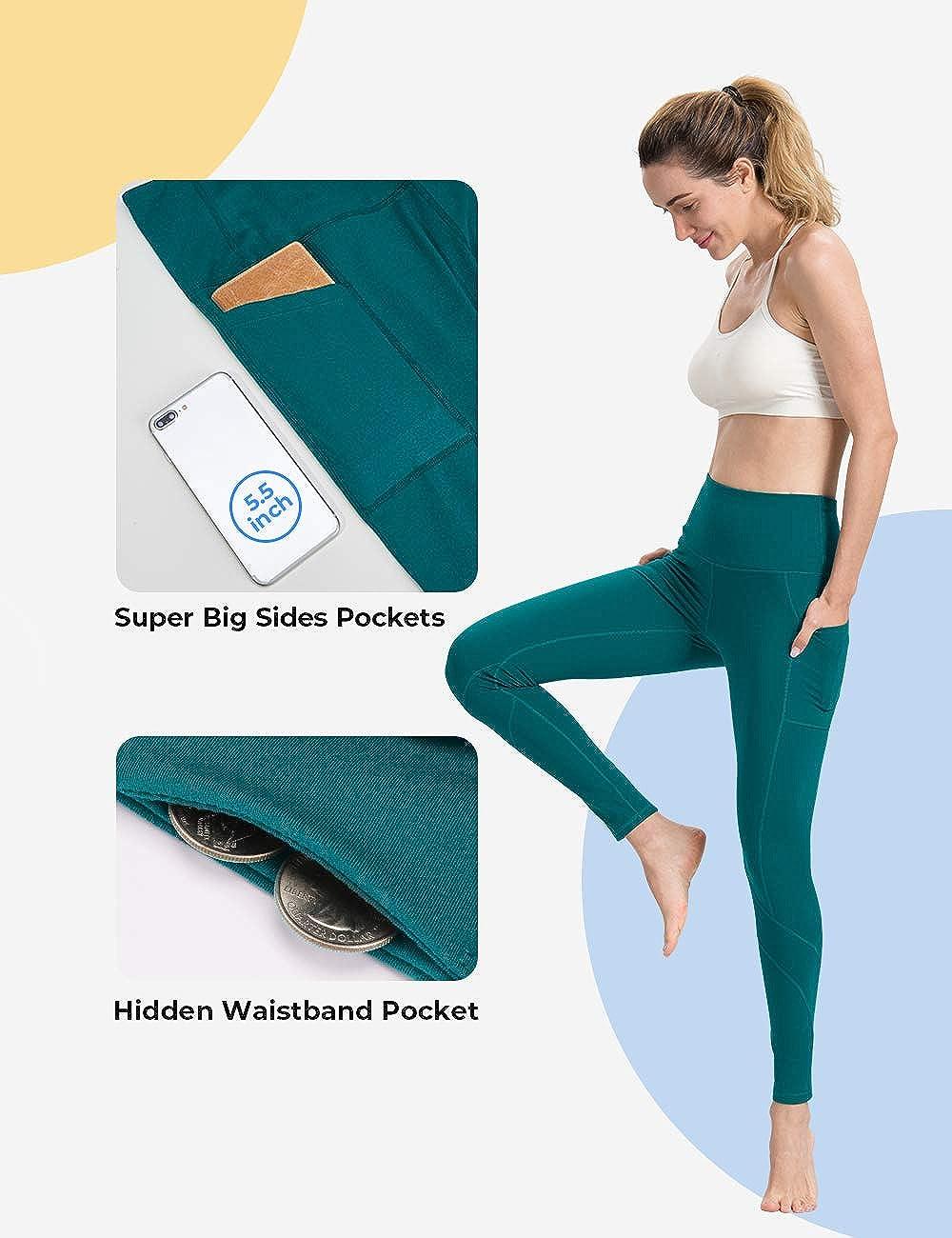 Womens Yoga Pants New York Art Design Art Gift Ideas Yellow Super Soft Yoga Leggings with Pockets