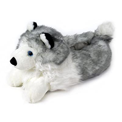 Husky Slippers - Plush Dog Animal Slippers | Slippers