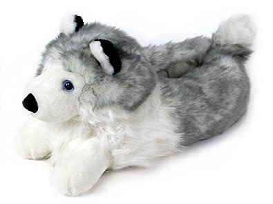 Husky Slippers Plush Dog Animal Slippers