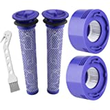 Lemige 2 Pre-Filters and 2 Post-Filters Replacement Compatible with Dyson V7, V8 Animal and Absolute Cordless Vacuum, Compare
