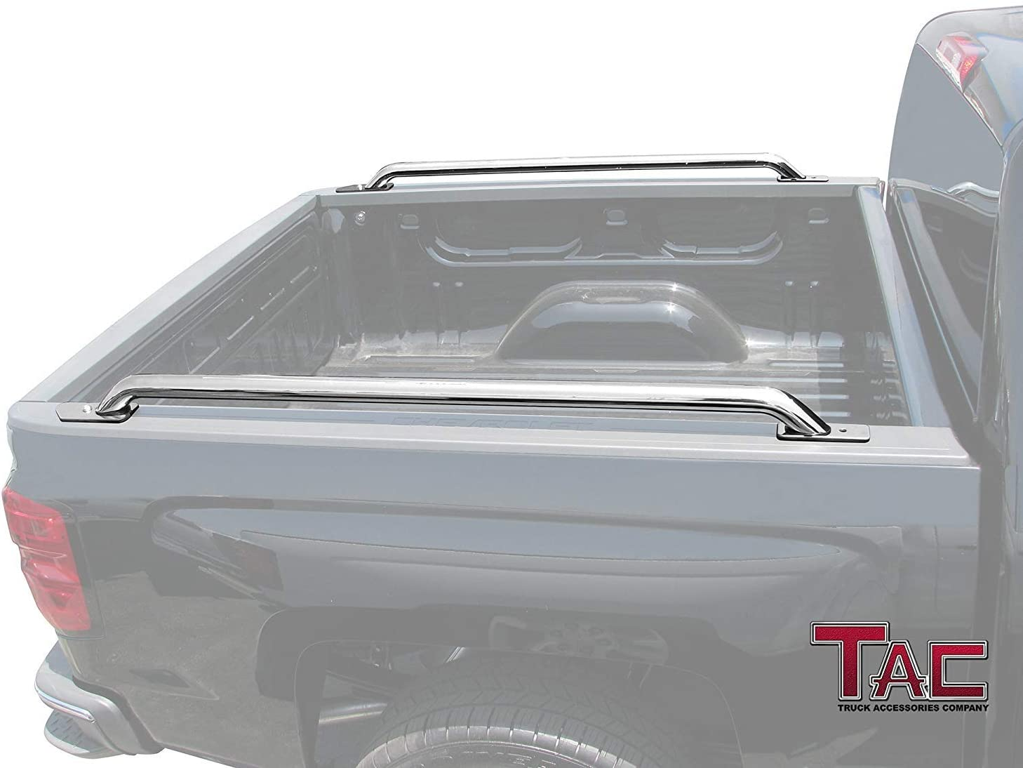 TAC Bed Rails Fit 2014-2019 Chevy Silverado 1500 2 Pieces Bed Rails GMC Sierra 1500 5.5ft Short Bed T304 Stainless Steel truck Side rails Off Road Automotive Exterior Accessories