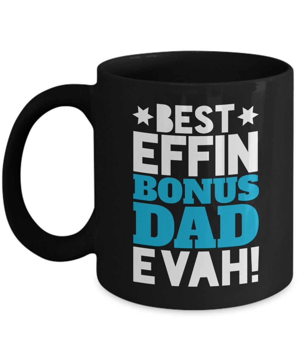 Best effinボーナスDad Evahコーヒーマグギフトのアイデアメンズ父の日誕生日クリスマスブラック 11oz ブラック GB-2729597-20-Black B07CH8HF93 ブラック 11oz