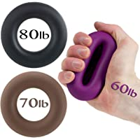 Hand Grip by Iron Crush? - A Hand & Forearm Exerciser and Strengthener - Set of 3 Level Resistance - 2 Year Warranty - Extension Crushing & Pinch Grip Training Solution - Best Hand Grips on the Market!