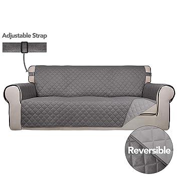 Amazon.com: PureFit - Funda de sofá reversible acolchada ...