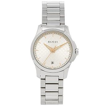 14ad60ce7506 Amazon | [グッチ] 腕時計 レディース GUCCI YA126593 シルバー [並行 ...