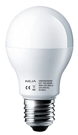 LED Factory 10 W E27 Bombilla LED, repuesto para 80 W bombillas incandescentes, 800LM