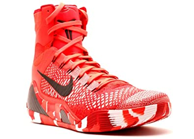 Nike Kobe IX 9 Elite Strategy Knit Stocking 630847-600 Crimson Flyknit  Men\u0027s Shoes (