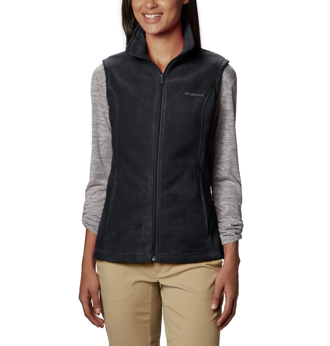 Columbia Women's Plus Size Benton Springs Soft Fleece Vest, Black, 3X by Columbia