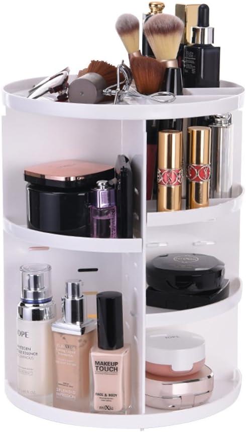 ATPWONZ Maquillaje Organizador de 360 Grados Rotatorio Bandeja de cosméticos Caja de Almacenamiento Multifuncional 8 Capas para Maquillaje y Accesorios (Blanco): Amazon.es: Hogar