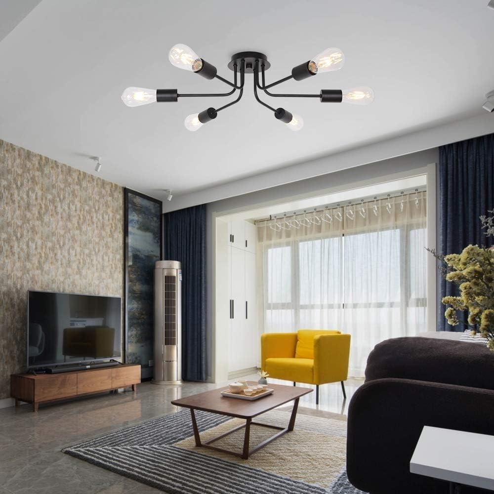 HWS Deckenlampe Vintage Metall Deckenleuchte, moderner Stil Kronleuchter 20  Licht Deckenbeleuchtung Deckenstrahler für Esszimmer Wohnzimmer Foyer