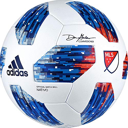 Adidas 18 Mls Omb Soccer Ball 5 White/Blue
