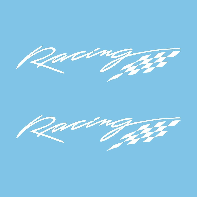 Autodomy Pegatinas Racing Sport Tuning JDM OEM Pack 2 Unidades para Coche Rojo