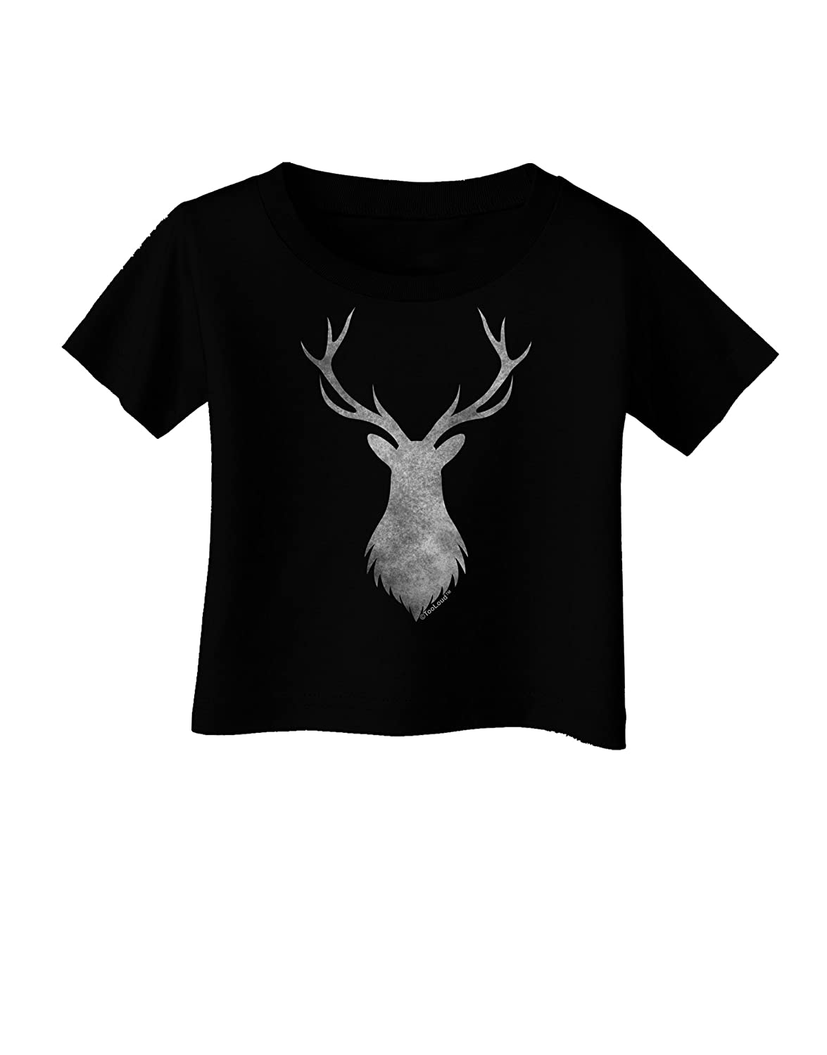 TooLoud Majestic Stag Distressed Infant T-Shirt Dark