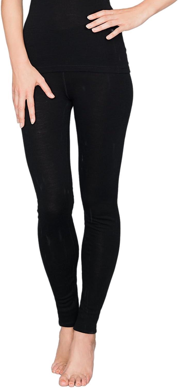 Utenos lana merino Ultra morbida Donna Pantaloni lunghi Mutande Made in EU M, Nero