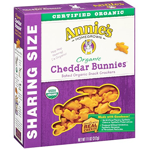 Annie's Homegrown Organic Cheddar Crackers, Bunnies, 11 Ounce by Annie'sHomegrown (Image #1)