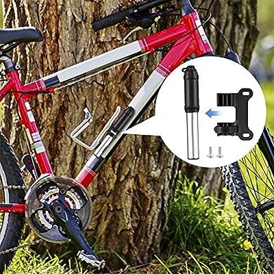 KuaiKeSport Bomba Bicicletas Mini,Bomba de Bici para Fiable 120PSI Valvula Presta y Schrader,Mini Bomba Bicicleta con Marco de Montaje y Bola de Aguja,Inflador Bici para Carretera,BMX, Montaña: Amazon.es: Deportes y aire libre