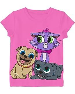 36dbf207cec8 Amazon.com: Disney Girls' Toddler Puppy Dog Pals Puff Short Sleeve T ...