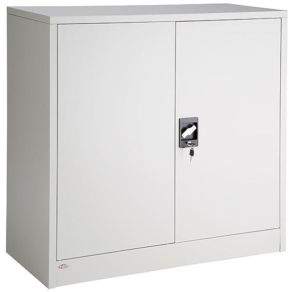TecTake Armario archivador de Oficina metálico con 2 Puertas bloqueable e estantes - Varias tamaños - (90x40x90cm | no. 402486): Amazon.es: Hogar