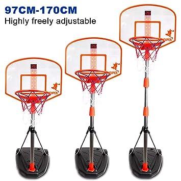 LDB SHOP 97-170 Cm Ajustable aro de Baloncesto niño Tablero Baloncesto Canasta Baloncesto Infantil con Dispositivo de puntuación