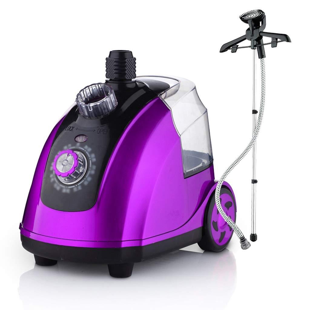 LCSHAN 服スチームハンギングマシンホーム垂直アイロンがけハンドヘルドアイロン機 (色 : 紫の) B07QDGSJT4 紫の