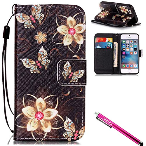 iPhone 6S Plus Case, Firefish  PU Leather Flip Purse Case Sl