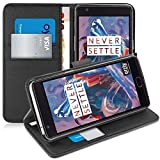 OnePlus 3T / OnePlus 3 Case - Orzly Multi-Function Wallet Case for OnePlus 3 (Original 2016 Model & 3T Version) - BLACK Wallet Case Style Phone Cover with Card Pockets & Integrated Display Stand