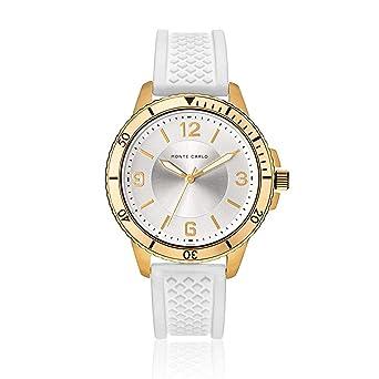 f9328d70146 Relógio Monte Carlo Feminino em Silicone Branco  Amazon.com.br ...