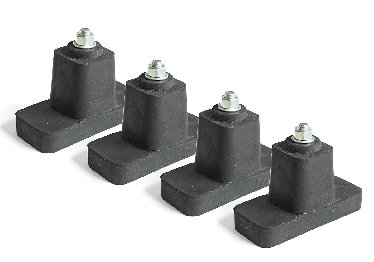 4 Rubber Vibration Absorber Damper Feet for AC Condenser by Tropiconics