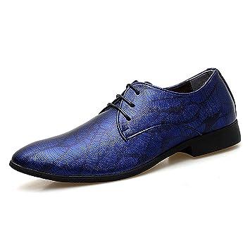 TAZAN Oxford Derby de los Hombres Vestido de Corbata Lazo Zapatos ...