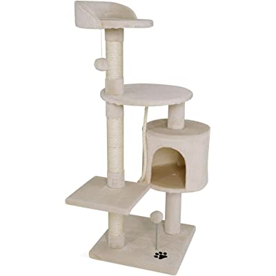 Dibea - Poste rascador para árbol de Gatos, 112 cm, Color Beige