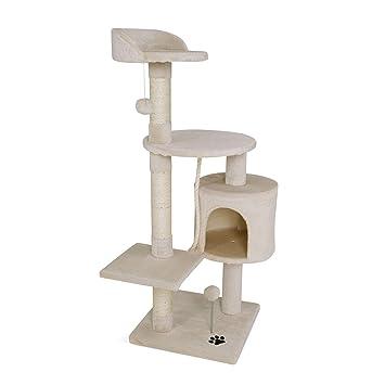 Dibea - Poste rascador para árbol de Gatos, 112 cm, Color Beige: Amazon.es: Productos para mascotas