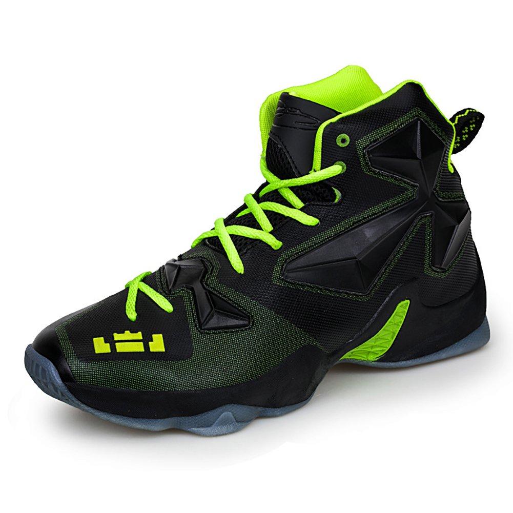 No.66 Town Couple Men's Women's Shock Absorption Running Shoes Sneaker,Basketball Shoes B01MTNTA1X (US)8.5 women's/7 men's|Black Green