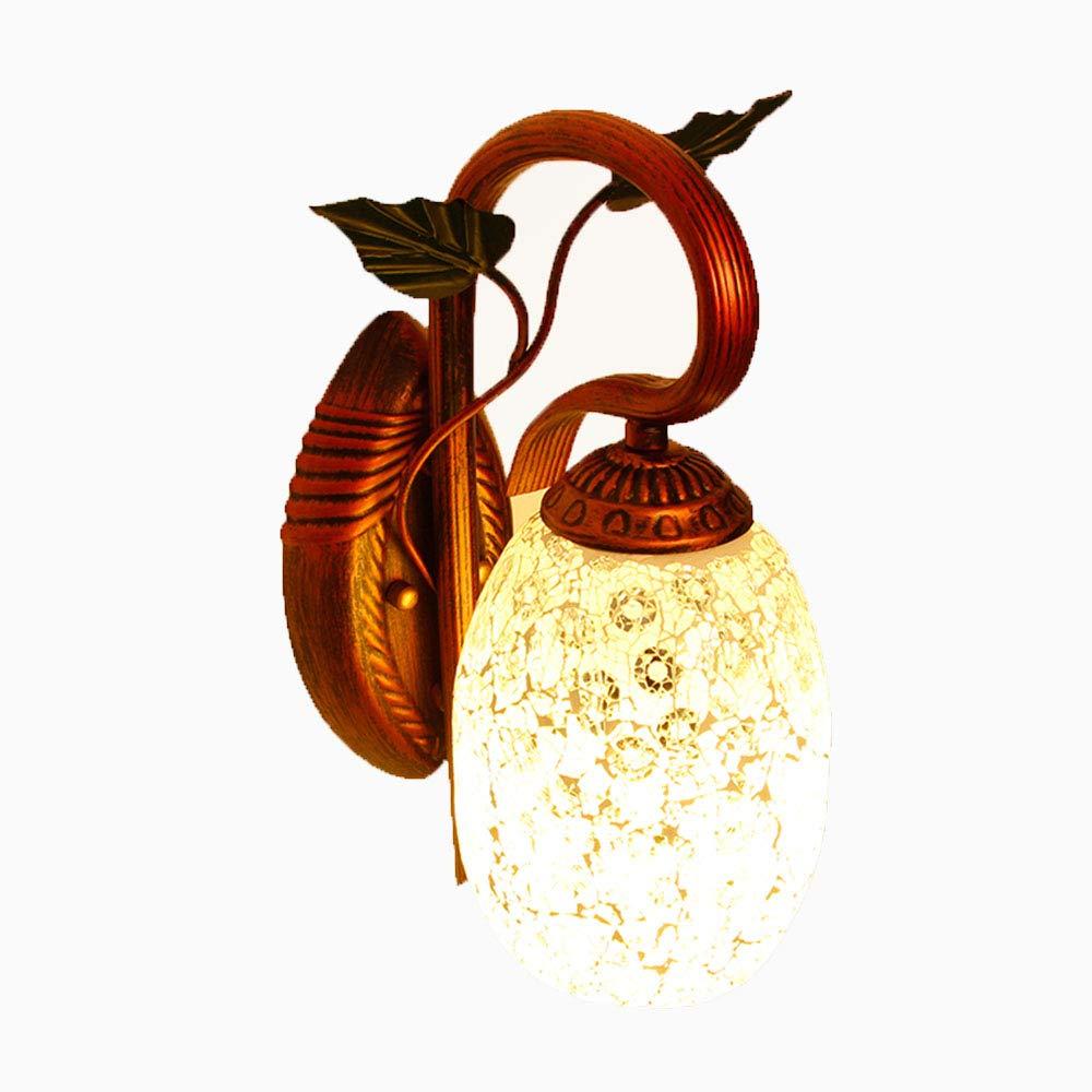 Amerikanischen stil Retro Kreative Shell Mosaik Mode Eisen Glas Wandleuchten Bar Gang Korridor Wandleuchten Dekorative Coffee Shop Restaurant Wandleuchte Leuchten,Variegatedmirror
