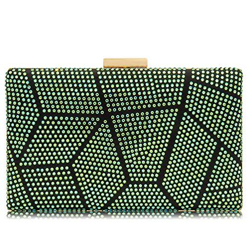 Women Clutches Crystal Evening Bags Clutch Purse Party Wedding Handbags (AB ()