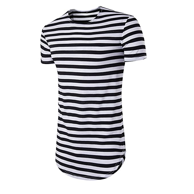 b1b9f88c85006 Mirecoo Mens Short Sleeve Red   White Striped Striped T-Shirt Light ...