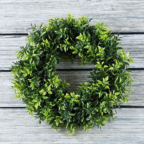 Review Round Wreath, Artificial Wreath