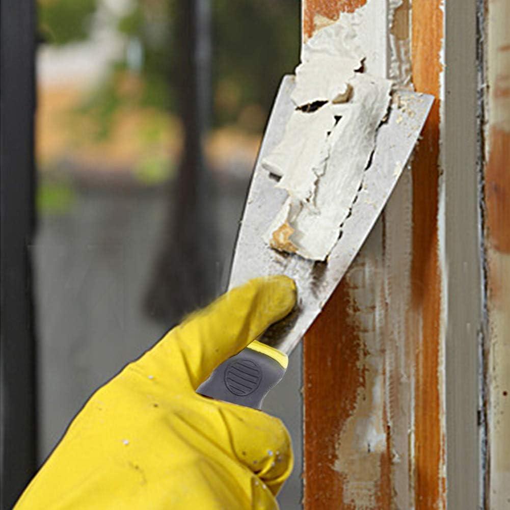 Wallpaper Scraper Tool Set Pack of 3 Paint Scrapers with Plastic Handle and Metal Blade Scraper Perfect DIY Decorating Paint Removal Scraper Tool Set