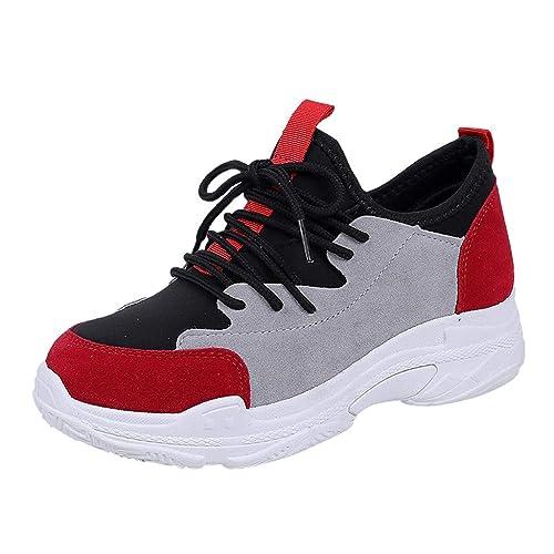 Damas De Las Mujeres Colores Mezclados TalóN Plano Mocasines Casuales Zapatillas De Deporte Zapatos Deportivos: Amazon.es: Zapatos y complementos