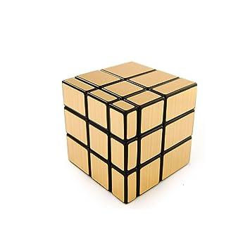 Emob 3x3 Mirror Cube Puzzle, Gold